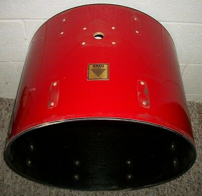 """YAMAHA Power V -- 22"""" -- Bass Drum SHELL - 16"""" Deep - Red Covering (#1)"""