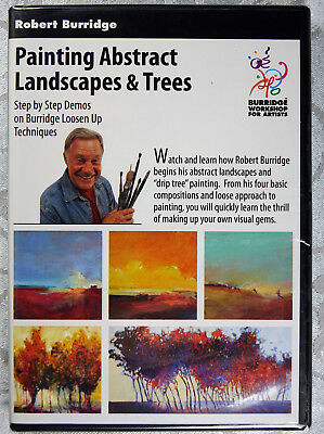 "ROBERT BURRIDGE ""Painting Abstract Landscapes & Trees"" Loosen Up Techniques DVD"