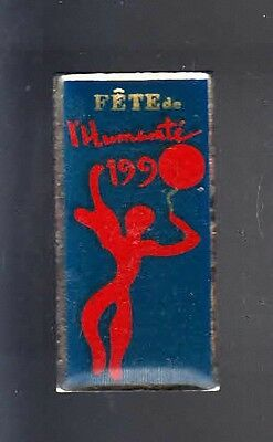 Rare Pins Pin's .. Politique Art Pc Pcf Parti Communiste Fete Humanite 1990 ~Bd