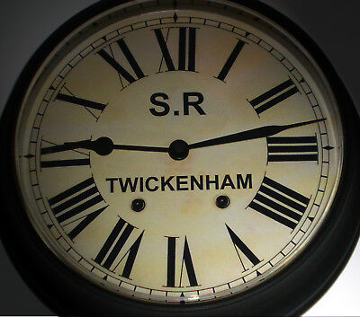 Southern Railway Style Waiting Room Clock Twickenham Station, London.
