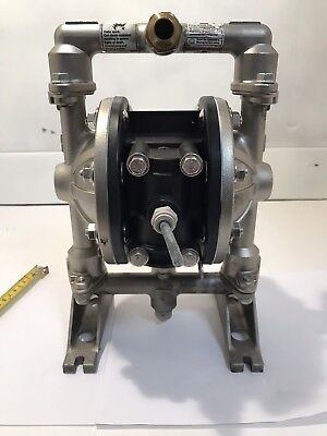 "Double Diaphragm Pump 316 Stainless Steel 3/4"" In & Out Last Use Mineral Spirits"