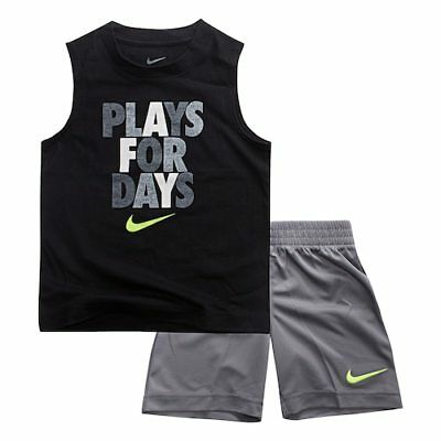 New Nike Little Boys Dri-FIT Tank & Shorts Set Size 3T and 4T MSRP $36.00