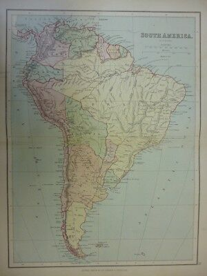 Map of South America. (Nr. 35) from Philips' Comprehensive Atlas 1852. By W. Hug