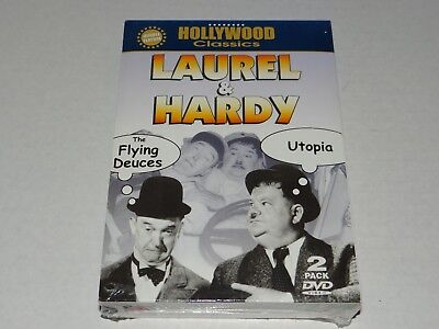 New LAUREL & HARDY Double Feature THE FLYING DEUCES & UTOPIA 2 Disc DVD Box Set