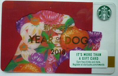Starbucks Card Chinese New Years 2018 Year Of The Dog 2017 # 6132