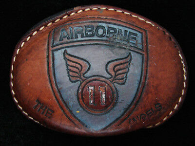 QG25103 VINTAGE 1970s **11TH AIRBORNE DIVISION ANGELS** US ARMY MILITARY BUCKLE