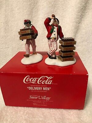 "1994 Coca -Cola Department 56 Snow Village ""Delivery Men""5480-1"