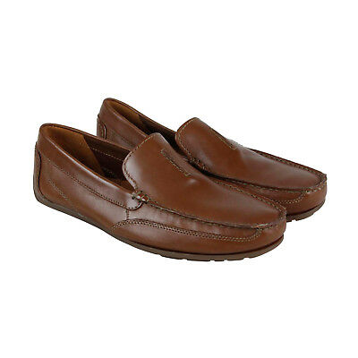 7586d9da07f28 Clarks Benero Race Mens Brown Leather Casual Dress Slip On Loafers Shoes