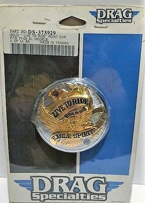"Drag Specialties Gold ""Live To Ride"" BRAND NEW - Point Cover DS-373929"
