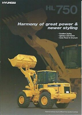 Equipment Brochure - Hyundai - HL 750 - Wheel Loader - c1990's (E4920)