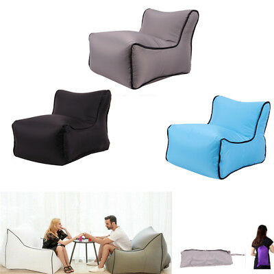 Inflatable Air Sofa Lazy Relax Bean Bag Soft Chair Outdoor Home Room Camping