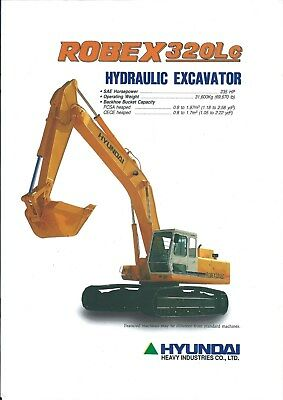 Equipment Brochure - Hyundai - Robex 320LC - Excavator - 1994 (E4926)