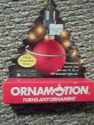 Holiday Gallery Ornamotion ornamotor 3 Pack Turns Any Ornament 1998