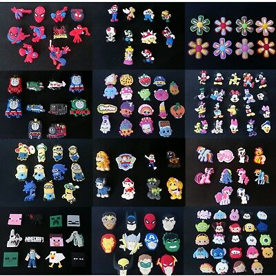 39 Different Design Packs of Croc Shoe Charm Jibbitz Crocs Charms to Choose From