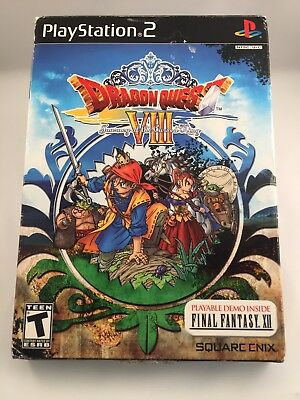 Dragon Quest VIII 8 Journey of the Cursed King PlayStation 2 PS2 Brand New + Box