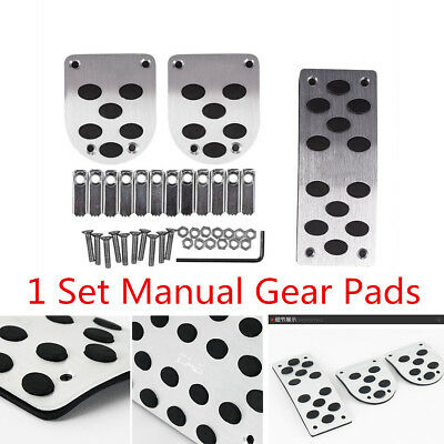 3X Manual Gear Transmission Pedals Pads Car Gas Brake Metal Pedal Non-Slip Cover