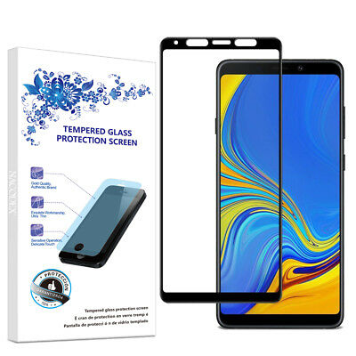 For Samsung Galaxy A9 (2018) Full Cover Tempered Glass Screen Protector -Black