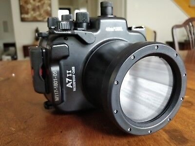 Meikon Diving 40m Camera Housing Case for Sony A7II A7SII A7RII a72 a7S2 a7R2