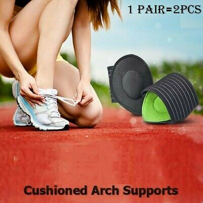 Sport Cushioned Arch Foot Support Brace Decrease Plantar Fasciitis Pain 1 2 Pair