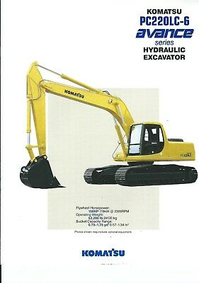 Equipment Brochure - Komatsu - PC220LC-6 Avance - Excavator - c1994 (E4951)