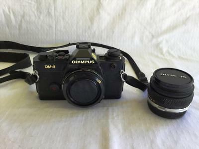 GREAT VINTAGE OLYMPUS OM-4 FILM CAMERA + 50mm LENS