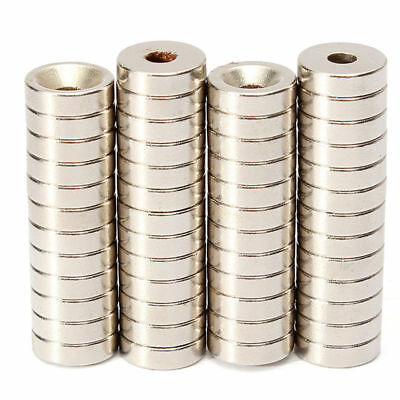50PCS 10 x 3mm N50 Disc Magnets Hole 3mm Rare-Earth Neodymium Super Strong