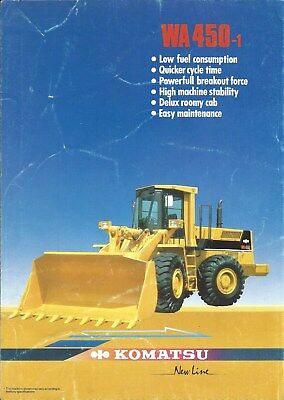 Equipment Brochure - Komatsu - WA450-1 - Wheel Loader - c1986 (E4960)