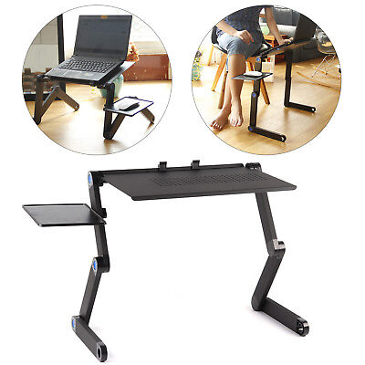 Adjustable Portable Folding Laptop Desk Computer Table Stand Tray For Bed Useful