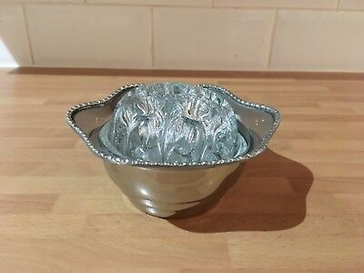 lovely vintage silver plated rose / post bowl made by arthur price england