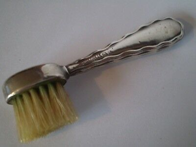 Collectable Antique Solid Silver Moustache Brush