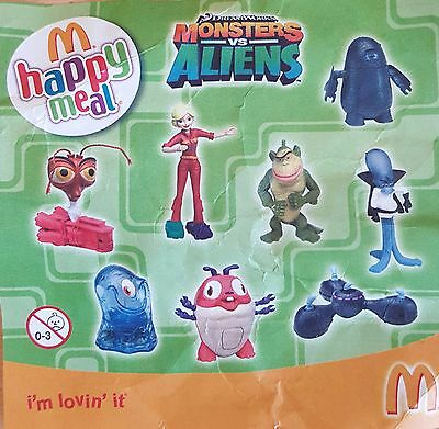 Monsters vs aliens happy meal toys