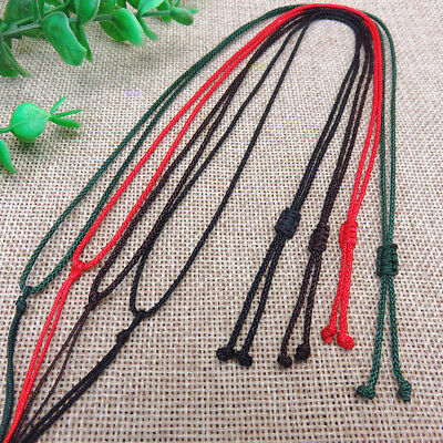 Braided Rope Necklace Rope  Chain Love Gift DIY Woven Handmade String Beads Line