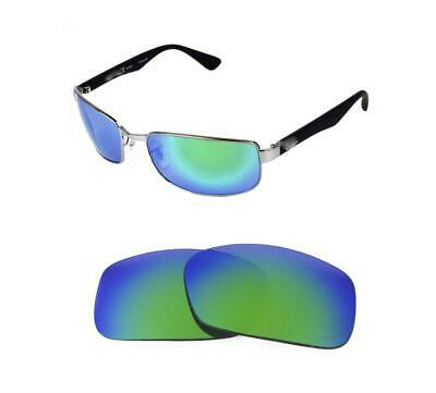 65ec8902bbd NEW POLARIZED REPLACEMENT GREEN LENS FIT RAY BAN RB3364 62mm SUNGLASSES