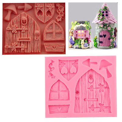 DIY Silicone 3D Fairy House Door Cake Mold Chocolate Mould Baking Molds