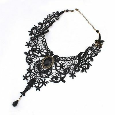 8bda8f7ec5 2pcs Retro Gothic Lace Collar Choker Steampunk Victorian Retro Necklace  Gift RI