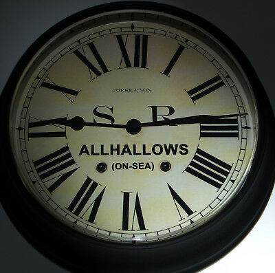 Southern Railway Style SR Waiting Room Clock, Allhallows-on-Sea Station