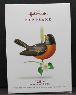 2018 Hallmark Keepsake Ornament Robin Beauty of Birds NIB 14th in Series