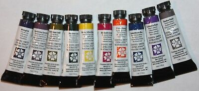 10 DANIEL SMITH Extra Fine Watercolor Paints:5ml-VARIETY SET -Series 2