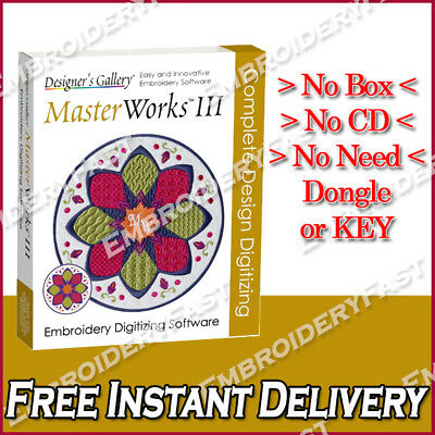 MasterWorks III - Embroidery Software - Full version - Instant Delivery