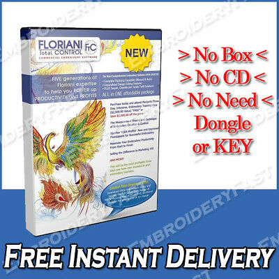 Floriani Total Control 7 Embroidery Software Full Version-Embroidery Software