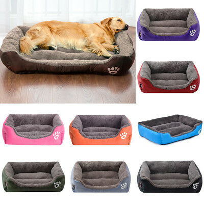 Warm Pet Large Dog Cat Bed Cushion Kennel Mat Sleeping Blanket Pad M/L/XL US