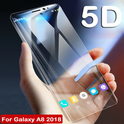 5D Tempered Glass Film Screen Protector for Samsung Galaxy A6 A5  A8 4 J6 2018