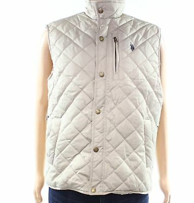 U.S. POLO ASSN. NEW Beige Mens Size Medium M Quilted Puffer Jacket $49- #980