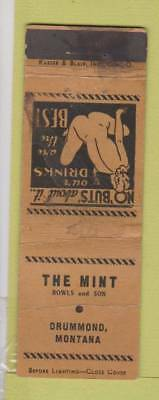 Matchbook Cover - The Mint Drummond MT girlie WORN