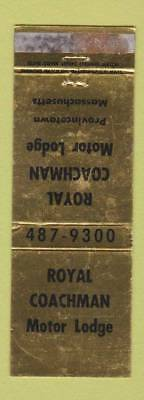 Matchbook Cover - Royal Coachman Motor Lodge Provincetown MA WORN