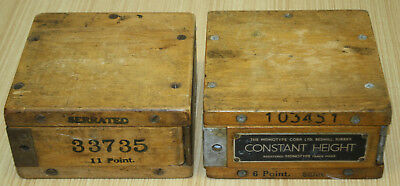 Monotype Corp Printing Constant Height Tool Empty Wooden Boxes