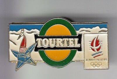 Rare Pins Pin's .. Olympique Olympic Albertville 92 Biere Tourtel Mascotte 1 ~17