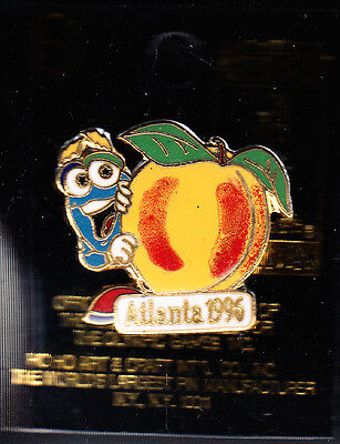 Rare Pins Pin's .. Olympique Olympic Atlanta 1996 Usa Mascotte Fruit Peche ~16