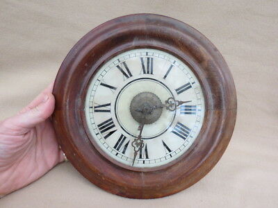 Antique Black Forest Postman's Alarm Wall Clock For Restoration