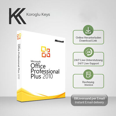 Ms Office 2010 Profesional Plus 32&64 Bit, Office 2010 PP, Produktkey per E-Mail
